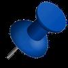 Bm blue thumb pin